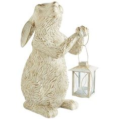Everybody loves some bunny sometime—don't they? And we're fairly certain most will find our carved tealight lantern to be totally charming as it spreads the welcoming aura of candlelight across the patio, garden or walkway.