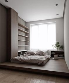 5 Adorable Tips: Desain Rumah Minimalist Home Models minimalist interior scandinavian lounges.Minimalist Home Interior White minimalist bedroom ideas quartos. Modern Bedroom Design, Bed Design, Home Interior Design, House Design, Villa Design, Modern Interior, Small Bedroom Designs, Bedroom Small, Interior Designing