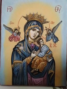 Religious Pictures, Religious Icons, Religious Art, Blessed Mother Mary, Blessed Virgin Mary, Madonna, Church Icon, Angel Prayers, Mama Mary