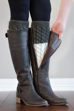 With the Charcoal and Ivory Reversible Boot Cuffs, you can wear charcoal today and ivory tomorrow! Made with soft, durable materials. Fast + free shipping.