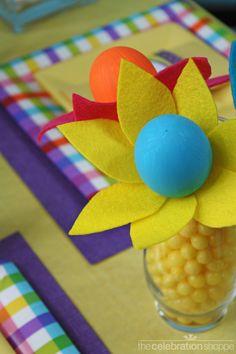 Easter egg flower craft