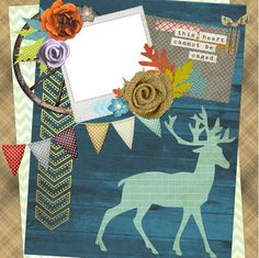 "Copper Blossom Paperie: Free 12""x12"" Northwoods Themed Scrapbook Quick Page!"