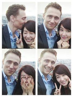Tom Hiddleston and Tiffany- Tiffany is so cute! ^^ Tom Hiddlston is the guy from AVENGERS!