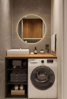 Small bathroom remodeling 296463587966373725 - Un appartement entre bois et pierre – PLANETE DECO a homes world Source by lillyrosed Laundry Room Design, Bathroom Design Small, Bathroom Layout, Bathroom Interior Design, Modern Bathroom, Bathroom Ideas, Tiny House Bathroom, Laundry In Bathroom, Master Bathroom