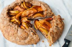 clean simple apple galette recipe which is a rustic tart requiring no baking skills, just apples, spelt flour and spices #cleaneating #vegan #nodairy