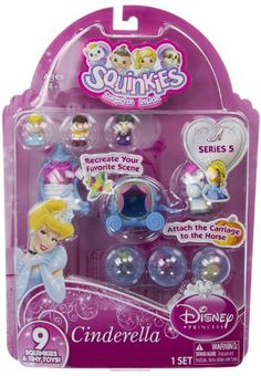 Squinkies Disney Princess Series #5 - Cinderella (6 Squinkies + 3 Tiny Toys) by Blip Toys, http://www.amazon.com/dp/B007X9BE38/ref=cm_sw_r_pi_dp_fvbNrb0H4BXPT
