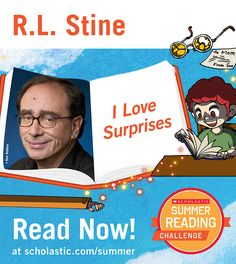 The fourth summer story is live on the Summer Reading Challenge website! Read I Love Surprises, by R.L. Stine. Kids will love this story little boy, a librarian who may potentially also be a monster, and a mysterious stranger meet one morning at the library. Click through to read! scholastic.com/summer #summerreading