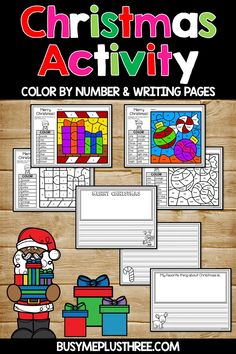 ✔ Christmas Activities For Kids Literacy Christmas Color By Number, Christmas Colors, Christmas Writing, Christmas Activities For Kids, Hidden Pictures, Literacy Stations, Writing Numbers, Second Grade, Coloring Pages
