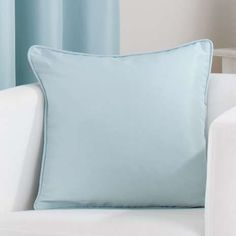 Available to buy online today, our duck egg blue square cushion has a simplistic quality to it, perfect for adding a…