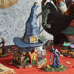 Department 56 Snow Village Halloween Toads and Frogs Witchcraft Haunt Lit House #allproceedsgotohelpthedisabled