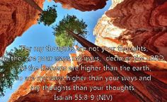 Isaiah 55:8-9.  One of my favorite bible verses.  When Christians preach intolerance and hate, I think about this.  God made STARS.  Quasars.  Infinitely dense singularities of matter.  I find it hard to believe God cares much about who's gay and who isn't.  God's thoughts are higher than ours.
