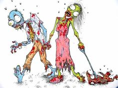 Together forever...I hope someday Nick and I will get to experience such beautiful Zombie love