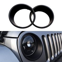 DIYTuning Black Bezels Front Light Headlight Trim Cover for Jeep Wrangler JK JKU Unlimited Rubicon Sahara Sport Exterior Accessories Parts 2007 2008 2009 2010 2011 2012 2013 2014 2015 2016 2017. For product info go to: https://www.caraccessoriesonlinemarket.com/diytuning-black-bezels-front-light-headlight-trim-cover-for-jeep-wrangler-jk-jku-unlimited-rubicon-sahara-sport-exterior-accessories-parts-2007-2008-2009-2010-2011-2012-2013-2014-2015-2016-2017/