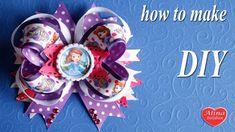 София Прекрасная Банты для Детей / Sofia the First. How to make a hair bow