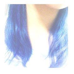 WEBSTA @ 08sa14ki - #インナーカラー に挑戦!*#マニックパニック の#ショッキングブルー を使用♪*とーーーってもいい色になりました😊☝️*