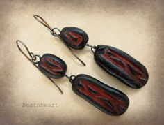 The Ancient Ones..dangle beaded earrings boho by Beatnheart
