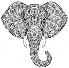 art, arte, elefante, elephant, mandala, First set
