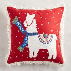 Peace & Joy Llama Pillow | Pier 1 Imports