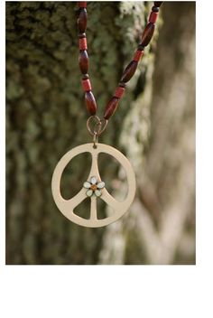Hippie Peace Sign Necklace - SOLD