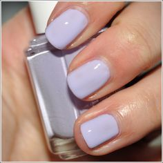 Perfect nail color for spring. Essie Lilacism