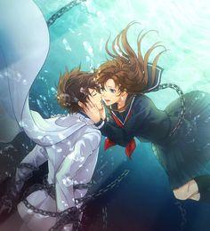 Watch anime online in English. Anime Cupples, Anime Love, Anime Art, Magic Kaito, Kaito Kuroba, Kaito Kid, Detective Conan Wallpapers, Detektif Conan, First Animation