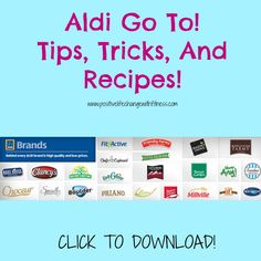 Who doesn't love FREE, and who doesn't LOVE Aldi! :) Click to download your free guide today! :) #aldi #groceryshopping #cleaneating #free #guide #shopping #support #motivation #kidapproved #husbandapproved #tips #tricks #cooking