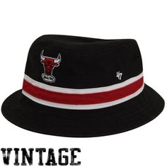 '47 Brand Chicago Bulls Bucket Hat - Black
