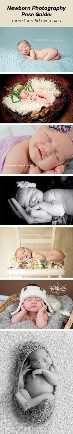 Newborn Photography Pose Guide - shows more than 50 examples of different poses.