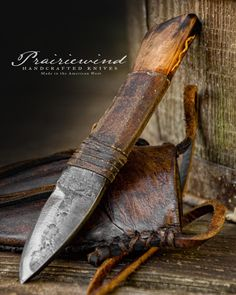 Prairiewind Hand Forged Knives and Custom Leather Works by PWTradeGoods Forging Knives, Blacksmithing Knives, Cool Knives, Knives And Swords, Bushcraft, Antler Knife, Knife Drawing, Hand Forged Knife, Leather Holster
