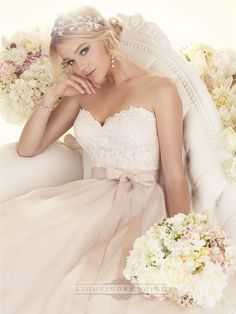 Sweetheart A-line Lace Bodice Wedding Dresses