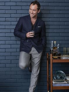 Jude Law Enjoys Some Johnnie Walker Blue Label Whisky