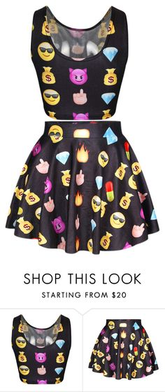 """emoji"" by lilkaykay2003 ❤ liked on Polyvore"