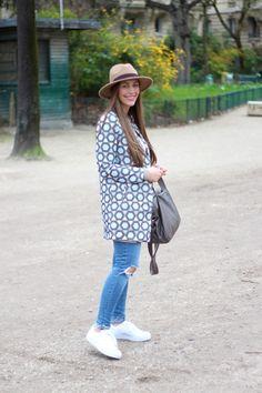 Paris Look by fabes fashion #paris #printedcoat #spring #springlook