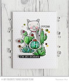 Sweet Succulents, Sweet Succulents Die-namics. Cat-itude, Cat-itude Die-namics, Concentric Grid Background, Blueprints 25 Die-namics - Yoonsun Hur  #mftstamps