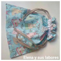 Elena y sus labores: Cómo hacer una bolsa de tela sencilla
