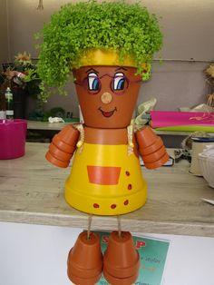 pot de terre cuite décoré - Cerca con Google