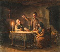 Orlay Petrich Soma: Petőfi a szüleinél