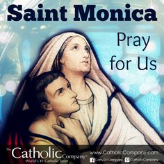 St. Monica is the patron saint of wives & mothers. She prayed fervently for her son to become a Christian. Years later he converted & became St. Augustine, one of the great theologians of the Church. She's an example to all mothers to never give up praying for their children. She's also the patron of alcoholism & adultery victims. She once struggled with alcohol, giving it up when caught. She was married to an adulterous, abusive pagan. With prayer & patience she won her husband's…