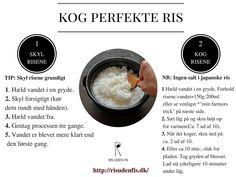 """Hvordan koger man ris? Det er svært at koge ris, ikke? Det tager land tid til at koge ris. Jeg høre det ofte og får spørgsmål. Jeg svar altid """"Det er det ikke! Man skal bare vide rigtig måde til"""