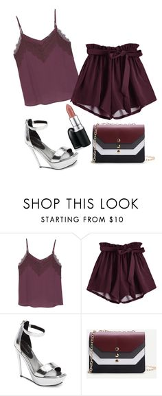 """Sin título #302"" by gimeneznora ❤ liked on Polyvore featuring MANGO, Jeffrey Campbell, WithChic, MAC Cosmetics, cute, cool and like"