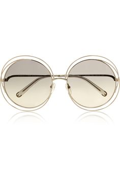 ee9e962d67cf Chloé Carlina oversized round-frame stainless steel sunglasses  325 Funky  Glasses