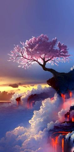 New fantasy landscape art nature scenery Ideas Scenery Wallpaper, Cute Wallpaper Backgrounds, Galaxy Wallpaper, Cute Wallpapers, Wallpaper Samsung, Black Wallpaper, Colorful Wallpaper, Flower Wallpaper, Animal Wallpaper