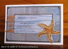 Sea Star and Ocean card