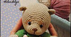 MINI BEAR FREE ENGLİSH PATTERN Translation: @samyelidesign MATERIALS USED: Yarns: Gazzal baby Cotton or Yarnart Jeans (Hippo... Crochet Applique Patterns Free, Crochet Teddy Bear Pattern, Animal Knitting Patterns, Crochet Patterns Amigurumi, Crochet Dolls, Knitting Bear, Crochet Projects, Diy And Crafts, Crochet Bear