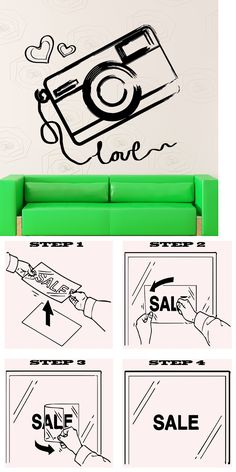 household items: Wall Sticker Vinyl Decal Camera Photography Love Art Decor (Ig2046) -> BUY IT NOW ONLY: $49.99 on eBay!