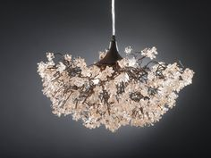 Fabulous find on Etsy...and reasonable prices. Ceiling lamp. Transparent flowers. by yehudalight on Etsy, $480.00