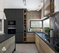 Loft Kitchen, Kitchen Room Design, Modern Kitchen Design, Home Decor Kitchen, Interior Design Kitchen, Kitchen Cabinet Remodel, Modern Kitchen Cabinets, Luxury Kitchens, Home Kitchens