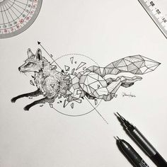 Delicated  and beautiful doodles by Kerby Rosanes, aka Sketchy Stories, an illustrator based in the Philippines, who likes to combine wild animals and explosions of geometric shapes into beautiful black and white creations.