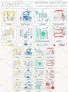 Modern education concept icons. Infographic Elements