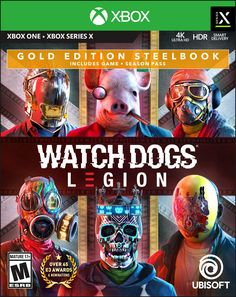 Watch Dogs Legion Gold Steelbook Edition Far Cry 4, Video Games Xbox, Ps4 Games, Red Dead Redemption, Call Of Duty, Legion Game, Jeux Xbox One, Ghost Recon, Electronic Arts